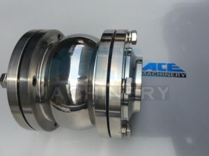 Dn25-Dn250 Electric Clamp Sanitary Food Butterfly Valve (ACE-DF-GC) pictures & photos