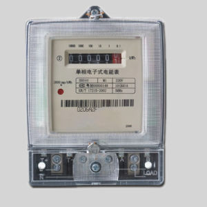 Single Phase Two Wire Anti-Tamper Digital Electric Kwh Meter pictures & photos