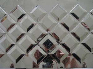 201 304 Color Mirror Finished Stamping Patterned Stainless Steel Sheet pictures & photos