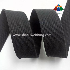 1.5 Inch Black Grooved Pure Cotton Webbing pictures & photos