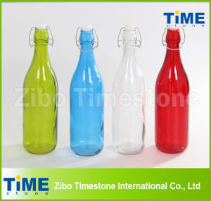 Colorful Glass Bottle with Lid pictures & photos
