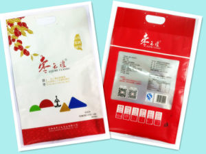 Plastic 3 Sides Seal Red Dates Packaging with Handle pictures & photos