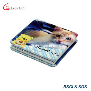 Hot Sale Printed Flower Aluminum Compact Mirror pictures & photos