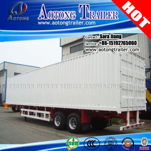 3-Axle Box Trailer/Container Semi Truck Trailer/Curtain Side Trailer pictures & photos