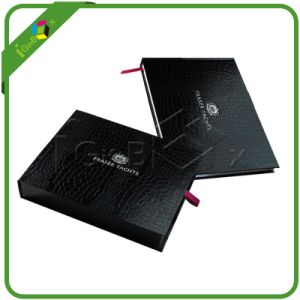 Black Paper Drawer Box with Texture Paper pictures & photos