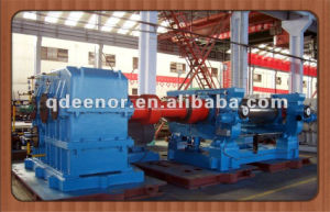 Two Roll Rubber Mixing Mill with Stock Blender / Open Mixing Mill / Open Mill Rubber Mixing Machine pictures & photos