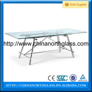 10mm Silkscreen Printing Glass Table pictures & photos