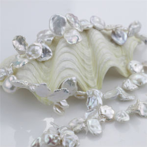 Snh 14mm Keshi Natural Bridal Fresh Water Pearl Jewelry Set pictures & photos