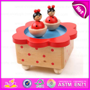 2015 Christmas Decoration Wooden Carousel Music Box, Colorful Wooden Music Box, Cheap Wooden Toy Music Box Wholesale W07b001 pictures & photos