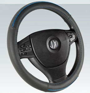PVC with PU Steering Wheel Cover (BT7236E) pictures & photos