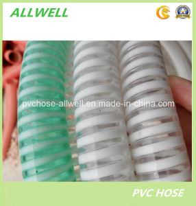 PVC Plastic Spiral Reinforced Suction Hose Water Garden Pipe Hose pictures & photos