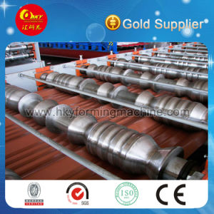 Corrugated Metal Roof Sheet Making Machine Colored Metal Roofing Sheet Rolling pictures & photos