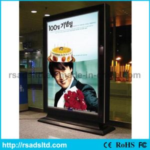 Double Sided Floor Standing Scrolling Light Box pictures & photos