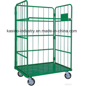 Foldable Storage Wire Mesh Trolley, Roll Cage for South Korea and Japan (High quality) pictures & photos
