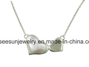 Fashion Sterling Silver Jewelry Heart Necklace for Valentine′s Gift pictures & photos