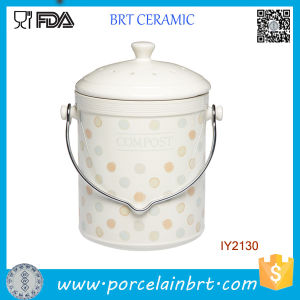 Wholesale Custom Compost Storage Bottle Ceramic Jar pictures & photos