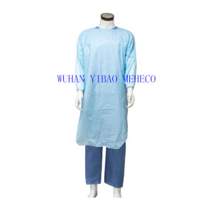 Disposable PE/CPE Visitor Coat (HG74701) Plastic