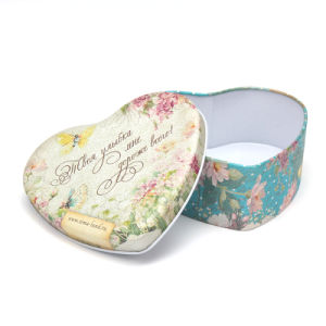 Heart-Shaped Metal Tin Candy Box Packing for Wedding pictures & photos