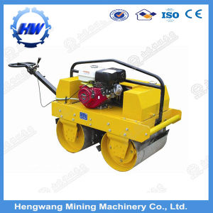 Walk Behind Double Drum Hydraulic Vibratory Mini Road Roller pictures & photos