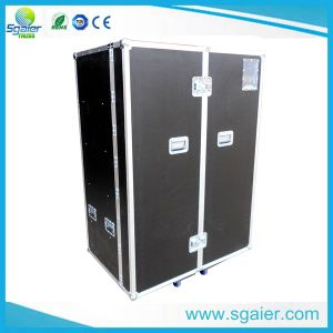 Non-Slip Plywood Flight Case for Holding 2 LCD TV Screens with Casters pictures & photos