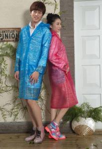 Adult Long Zebrafashion PVC Raincoat