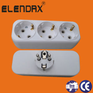 Eurpean Style 3 Way AC Electric Power Adaptor (P8813) pictures & photos