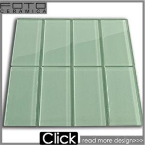 Green Subway Mosaic Tile for Bathroom
