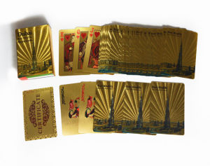 Top Grade Custom Golden Paper Printing Pokers pictures & photos