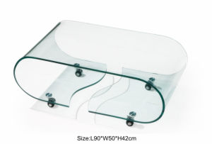 Hot Bending Glass Coffee Table of Clear Glass (TB-530) pictures & photos