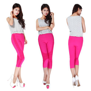 Fashion Women′elasticity 7 Minutes of Pants Ms Show Thin Foot Big Yards
