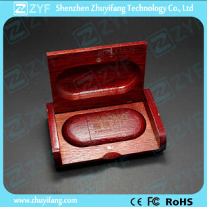 Laser Logo Wooden Box Wood 4GB USB Drive (ZYF1349) pictures & photos