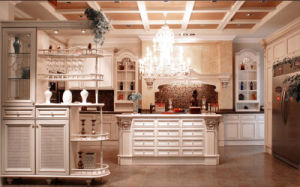 America Style Solid Wood Kitchen Cabinet (Br-SA02f) pictures & photos