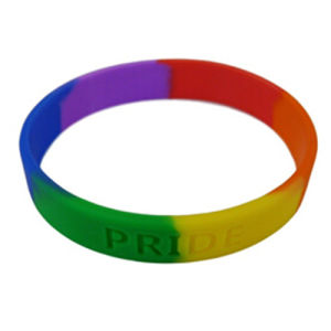 Segmented Changing Color Silicon Rubber Bracelet pictures & photos