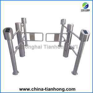 Super Market Swing Barrier Turnstile with Hand Rails pictures & photos