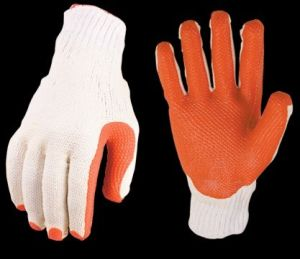 Cotton Gloves with PVC Coating La50b7 pictures & photos