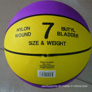 OEM Logo Official Size 7 Rubber Basketball pictures & photos