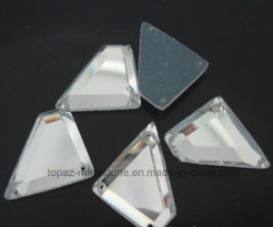 Silver Color Sew on Acrylic Mirror Silver Rhinestone in Various Shapes (SW-silver mirror) pictures & photos
