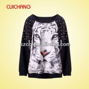 Wholesale Polyester/Spandex Heat Transfer Printing Custom Design Sweatshirt Wy-003 pictures & photos