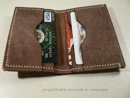 Vegetable Tanned Cow Hide Leather Card Holder Wallet