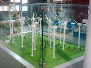 Wind Power Plant Model, Industrial Model Making, 3D Model Industrial