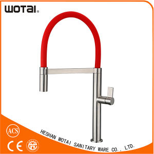 PVD Finished Single Lever Red Pipe Kitchen Faucet pictures & photos