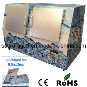 Indoor Ice Freezer Bin with Capacity 400L for Gas Station pictures & photos