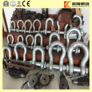 Forged G2130 U. S Type Bow Shackle, Galvanized Rigging pictures & photos