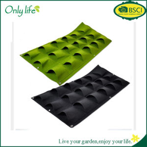 Onlylife Reusable Black Felt 12 Pockets Hanging Planter Vertical Planter pictures & photos