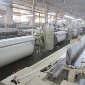 Manufacturer Supply White Grey Rayon Fabric for Printing pictures & photos