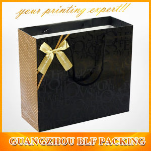 Black&Gold Paper Gift Bags with Handles (BLF-PB108) pictures & photos