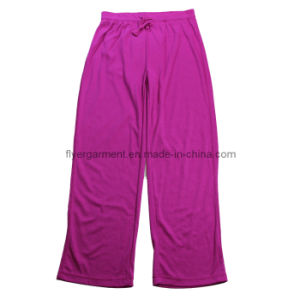 Woman′s Knitted Long Casual 100%Cotton Interlock Pajama (MDC-217)
