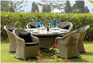 Rattan Table Outdoor Furniture for Garden