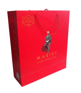 2016 Shiny Red Colour Matt Lamination Paper Bag (YY-B0239) pictures & photos