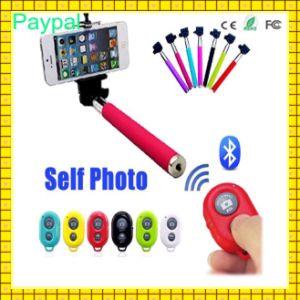 Carbon Fiber Selfie Stick with Bluetooth Remote Shutter (gc-s0016) pictures & photos